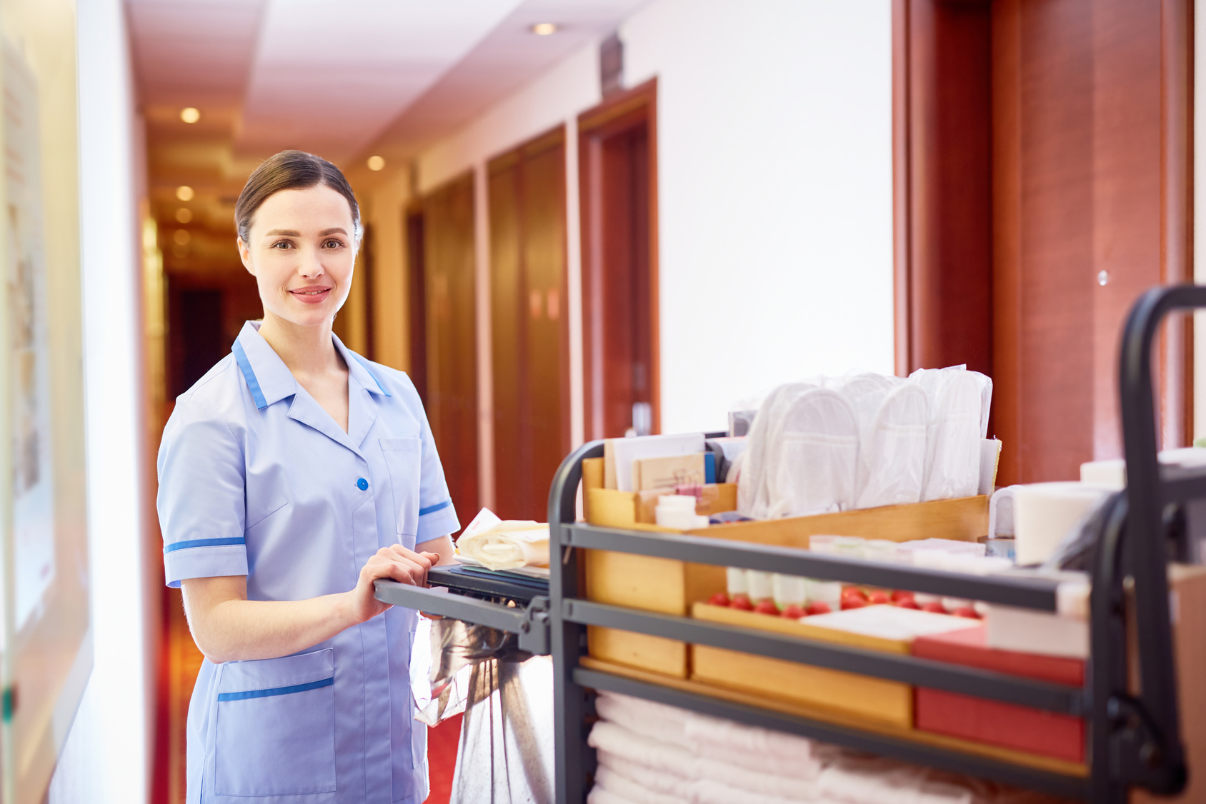 Housekeeping uniforms & toiletries