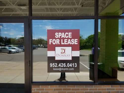 Donnay Commercial Properties, window graphicsEden Prairie, MN
