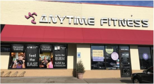 AnyTime Fitness window graphics, design and installation; Oakgrove, MN