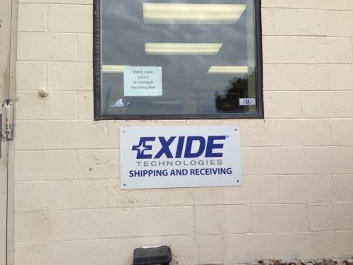 Exide Technologies, building signageMinneapolis, MN