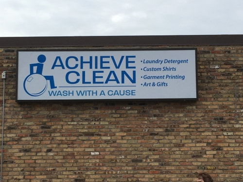 Achieve Services, building signage; Fridley, MN