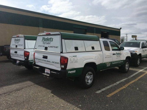 Plunkett's Pest Control fleet, vehicle wraps Edina, MN