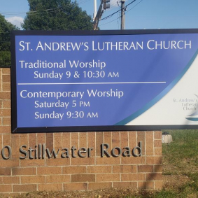 Monument Panels <br>St. Andrews Lutheran Church <br>Mahtomedi, MN