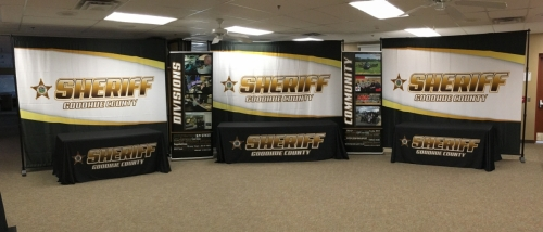 Goodhue County Sheriff banners and tableclothsRed Wing, MN