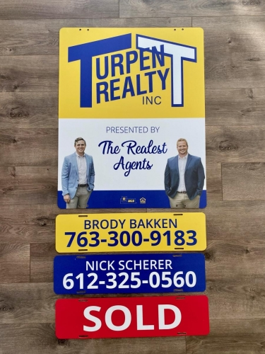 Real Estate Outdoor Signage; Turpen Realty; Cambridge, MN