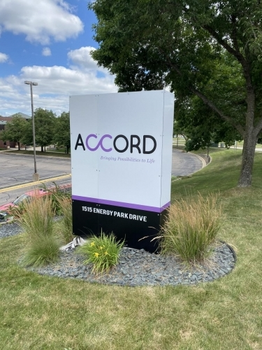 Outdoor Signage; Accord;St. Paul, MN