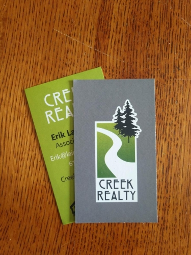 Creek Realty; business cards - Bloomington, MN