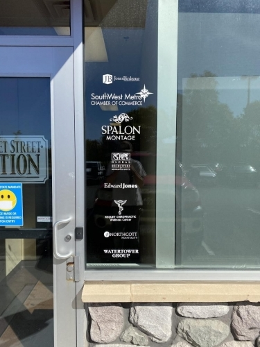 Business Directory Window Graphic;  Market Street StationChanhassen, MN