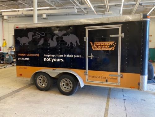 Trailer Wrap<br>Plunkett's Pest Control - Varment Guard<br>Columbus, OH