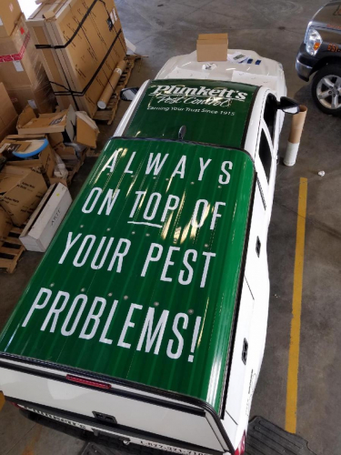 Plunkett's Pest Control Vehicle Wrap; Edina, MN