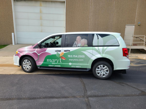 Full Vehicle Wrap <br> Mary T. Inc.  - Healthcare Provider Company <br> Coon Rapids, MN