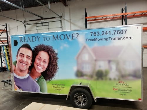 Full Trailer Wrap and Graphic Design<br>Lori Milliam-Keller Williams Realty<br>Otsego, MN