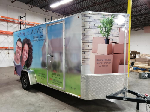 Full Trailer Wrap and Graphic Design <br>Lori Milliam-Keller Williams Realty<br>Otsego, MN