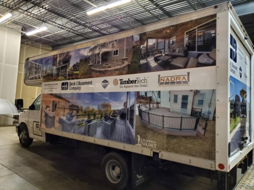 Deck and Basement Company; full vehicle wrap Richfield, MN