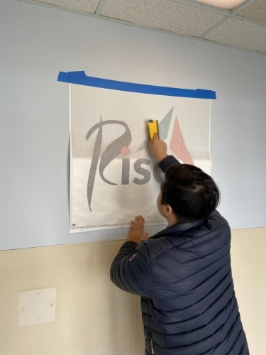 Rise Wall Graphics Process
