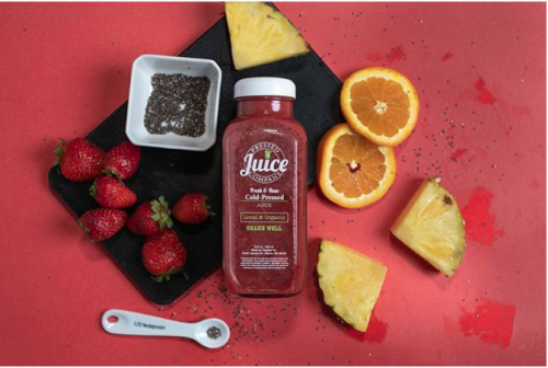 Product Packaging (Bottle & Cap)<br>Pressed Juice Company<br>Blaine, MN